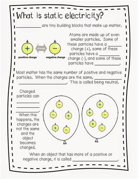 electricity worksheets   grade   worksheets