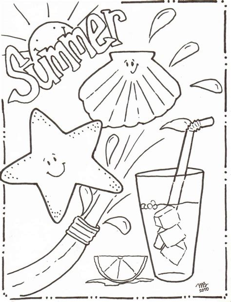 summer coloring pages    print