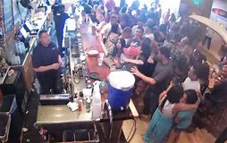 Image result for woman elbowed in face at the bar