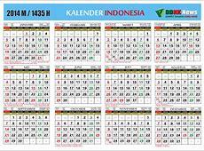 Kalender Indonesia 2014 M 1435 H Kalender