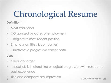 Definition Of A Chronological Resume by Application Resume