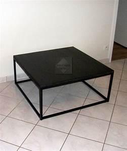 Table Basse Noir : table basse acier noir table basse ronde blanche pas cher trendsetter ~ Teatrodelosmanantiales.com Idées de Décoration
