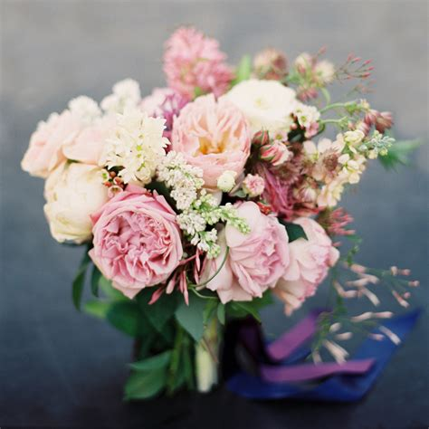Garden Roses Pink Lilac Spring Bridal Bouquet Once Wed