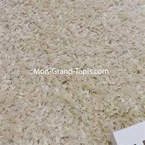 tapis sur mesure rond shaggy blanc ecru par mon grand With tapis shaggy sur mesure