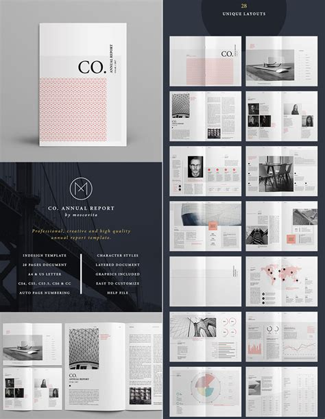 annual report templates  awesome indesign layouts
