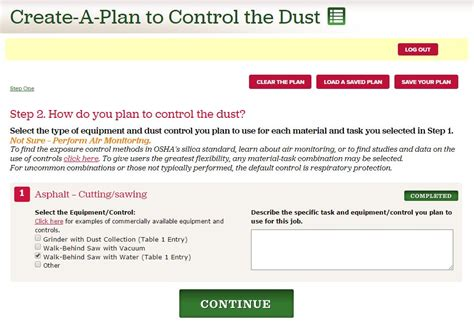 create a plan overview silica safe