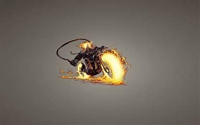 Rider Ghost Bike Skull Fire Minimalism Skeleton