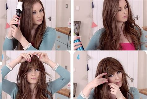 how to style hair without bangs how to get a look with bangs without cutting your hair