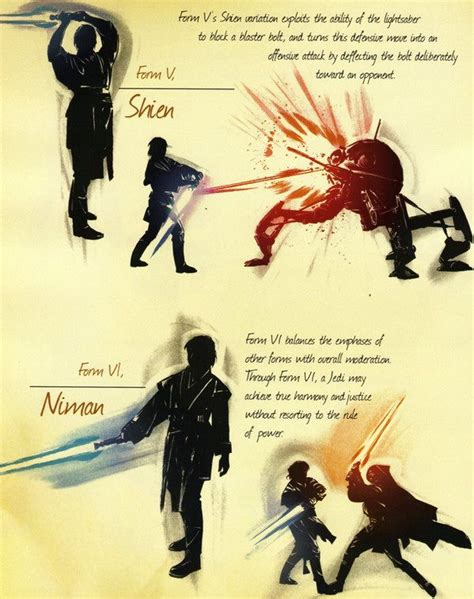 jedi fighting styles light saber fighting forms
