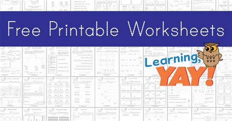 learning yay worksheets   students succeed
