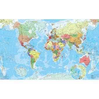 Acheter Carte Du Monde En Relief by Carte Du Monde Politique Plastifi 233 1 29 750 000 Broch 233