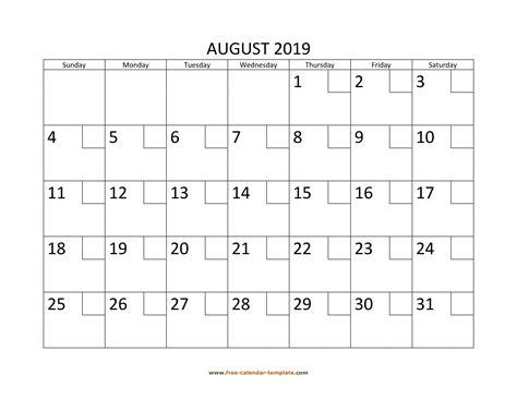 august   calendar tempplate  calendar