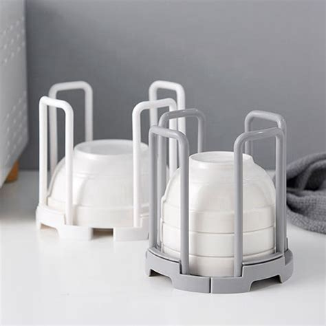stackable kitchen cup holder drain rack retractable drainer storage bowl rack dish drying holder