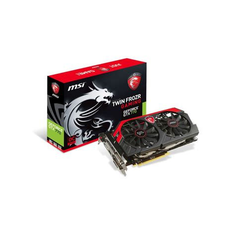 carte graphique pc bureau carte graphique msi geforce gtx 770 gaming 4go ddr5 oc