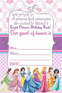 free printable birthday invitations for girls princess With free printable disney wedding invitations templates
