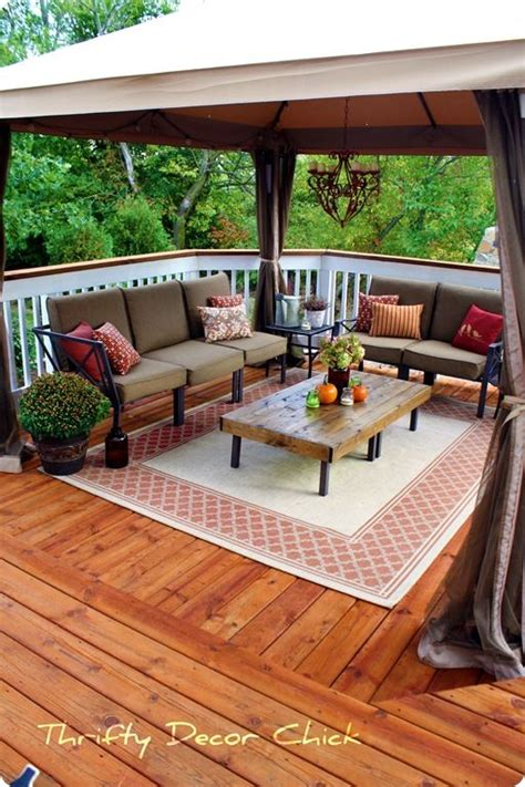 gorgeous patio furniture on a budget home decor ideas store bought gazebo on deck instead of building a cover