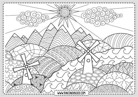 Dibujos de Paisajes para Colorear Paisajes bonitos para