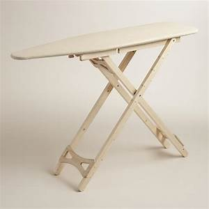 Wood Ironing Board with Cotton Cover World Market
