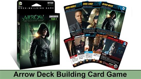 tcg deck building arrow card cryptozoic dc comics deck building