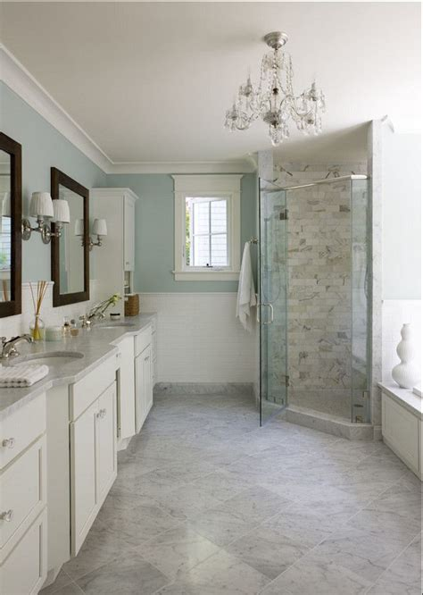 light blue  marble bathroom interiors  color