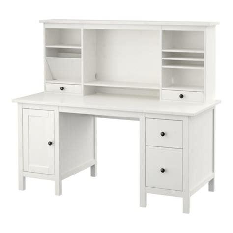 ikea le bureau hemnes bureau avec élément complémentaire teinté blanc ikea