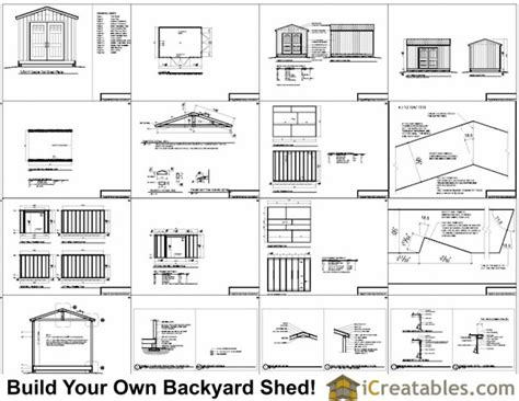 10x14 Garden Shed Plans by 10x14 Large Shed Plans