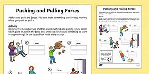 Pushing And Pulling Forces Worksheet  Teacher Made