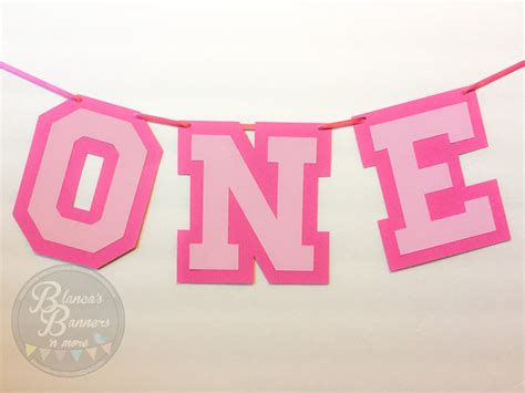 number one banner birthday banner one year