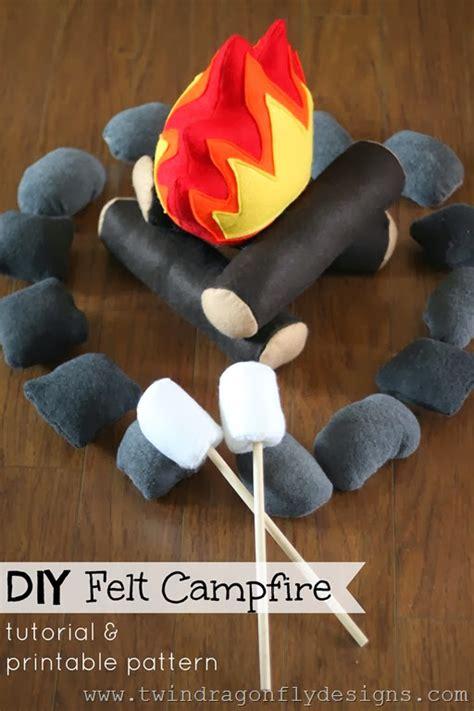 diy felt campfire tutorial  pattern    boys