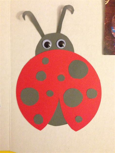 lady bug construction paper st birthday party