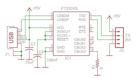 usb to serial converter using ftdi ft230x electronics lab