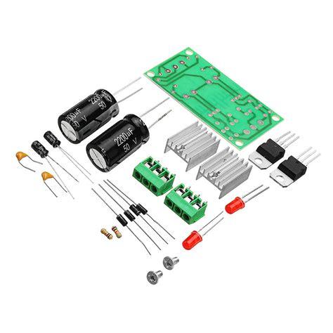 diy lm7812 lm7912 dual voltage regulator rectifier bridge power supply module 177 5v 12v kit sale