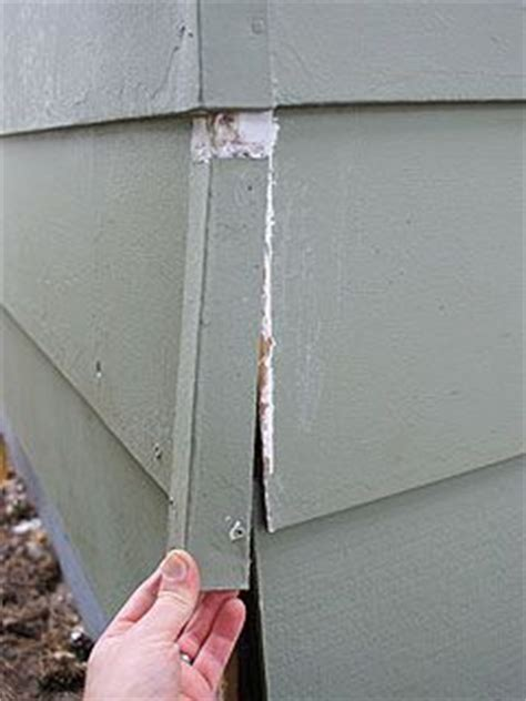 replacing metal corner caps  house  wood siding