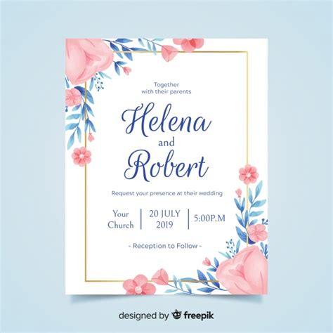 wedding invitation vectors   psd files