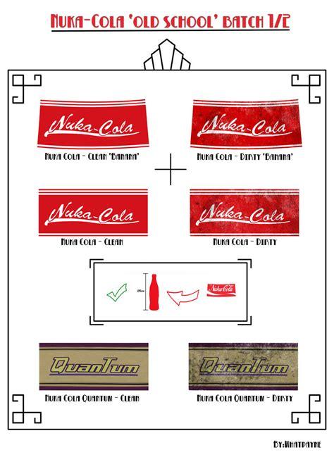nuka cola quantum label printout nuka cola school batch pt1 by whatpayne on deviantart