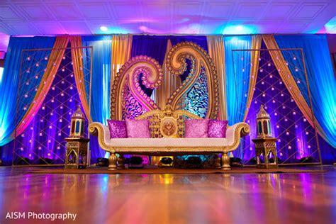 Henna Inspired Indian Reception Decoration