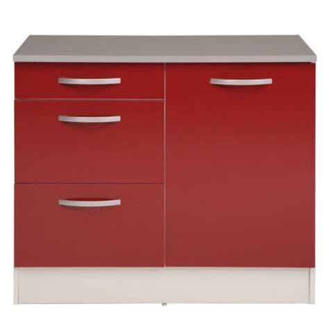 meuble de cuisine alinea alinéa eko cuisine meuble de cuisine bas pour évier avec tiroirs 100cm x100 0x86 0x60