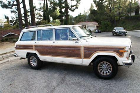 wood panel jeep cherokee purchase used 1986 jeep grand wagoneer w wood paneling