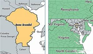 Anne Arundel County, Maryland / Map of Anne Arundel County ...