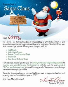 Personalized letter from santa google search elf on a for Customized santa letters for free