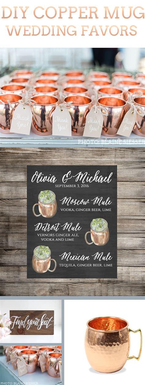 Copper Mug Favors For Weddings Diy Wedding Favors