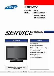 Samsung Ln32a550p3r Chassis N43a  Service Manual  Repair