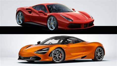 Ferrari 488 Gtb Vs Mclaren 720s Youtube
