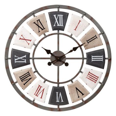 horloge maison du monde horloge en m 233 tal d 62 cm lanilys maisons du monde