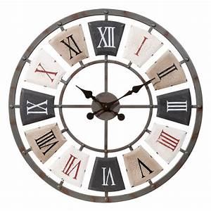 horloge en metal d 62 cm lanilys maisons du monde With horloge maison du monde