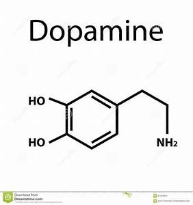 Chemical Molecular Formula Hormone Dopamine. The Hormone ...