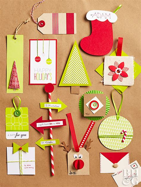easy creative holiday gift tags
