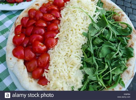 food in shape of flag italy stock photo 72064024