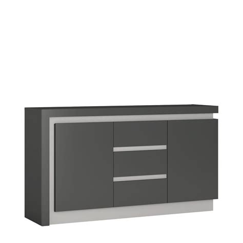 High Sideboard by Grey High Gloss 2 Door 3 Drawer Sideboard Homegenies