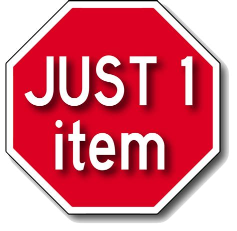 JUST 1 item